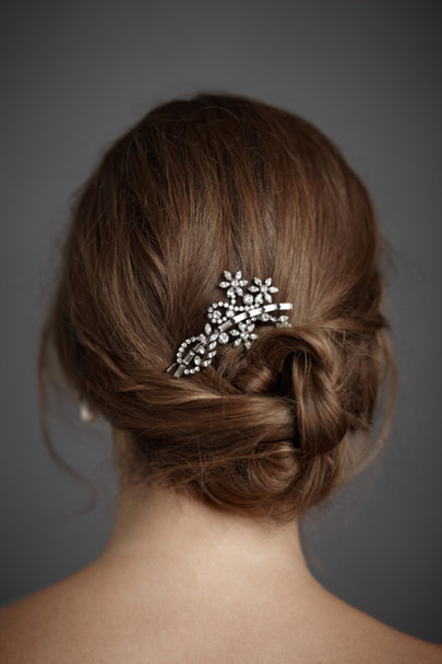 Jennifer Behr Crystal Bronze Pirouette Hairpin | BHLDN