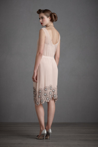 Rosewater Flower-Dipped Dress | BHLDN
