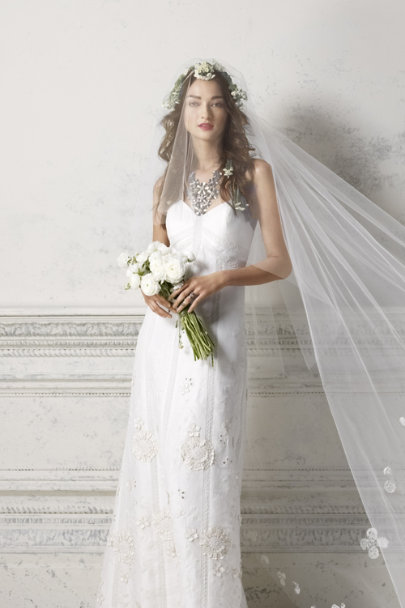 Debra Moreland diamond white Buoyant Blooms Veil | BHLDN