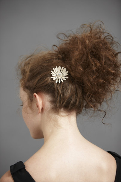 Frosted Mum Hairpin
