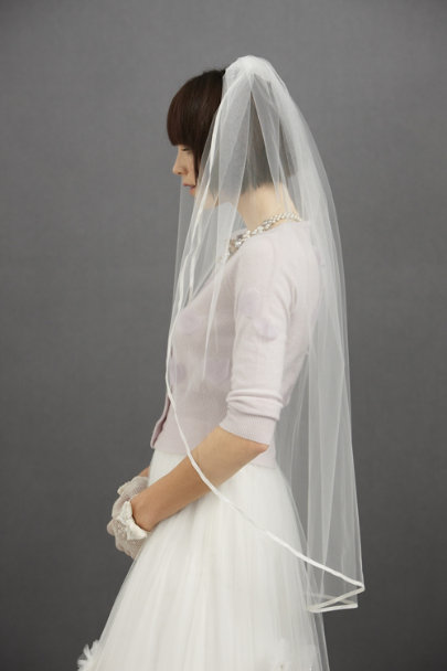 Ivory Winding Road Veil | BHLDN