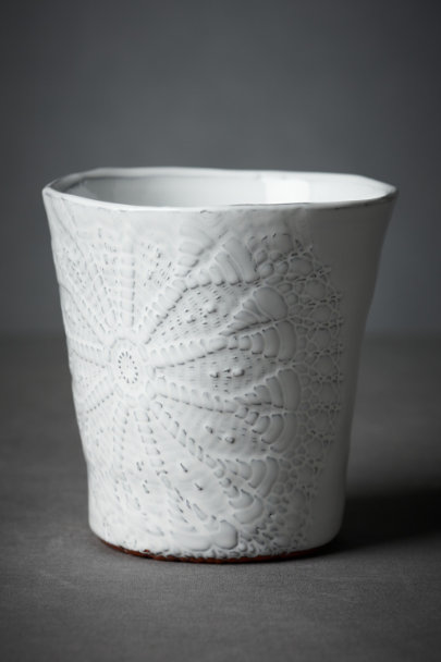 White Urchin Shell Vase | BHLDN