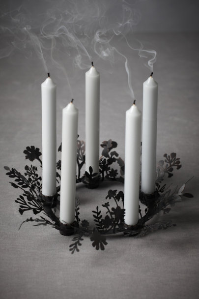 Grey Ebon Wildflowers Candelabra | BHLDN