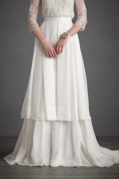 Ivory Lazard Skirt | BHLDN