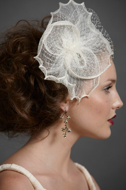 Ivory Nelumbo Headband | BHLDN