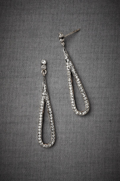 Silver Drip Drop Earrings | BHLDN