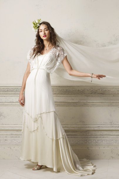 Ivory Criss-Cross T-straps | BHLDN