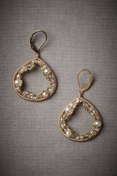 Gold Geological Treasure Earrings | BHLDN
