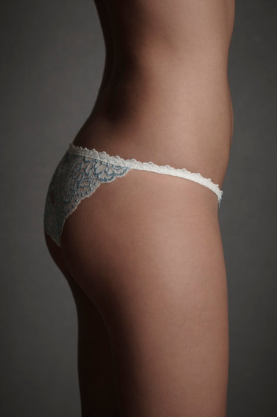 Ivory/Blue Paquin's Afternoon Knickers | BHLDN