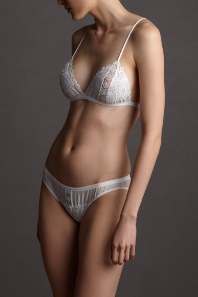 white Bardot Bra | BHLDN