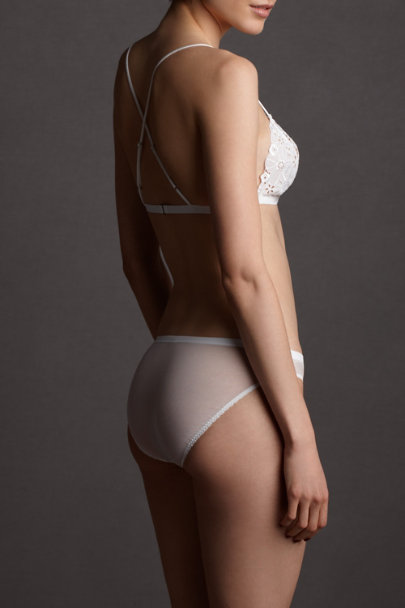 white Bardot Knickers | BHLDN