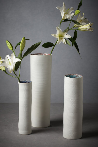 White Balanced Textures Vase | BHLDN