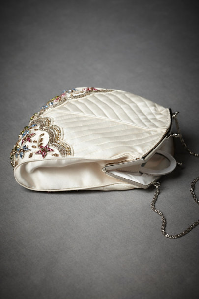 Creamy Ivory Romincka Forest Purse | BHLDN