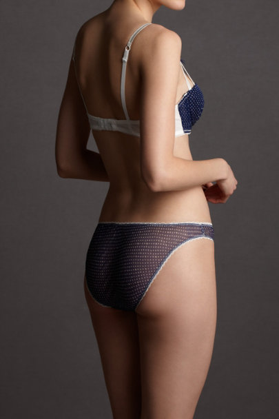 blue motif Boardwalk Knickers | BHLDN