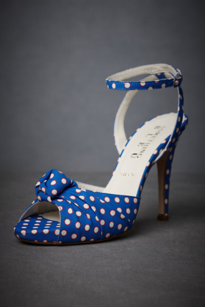 Blue Motif Spotted Sea Heels | BHLDN