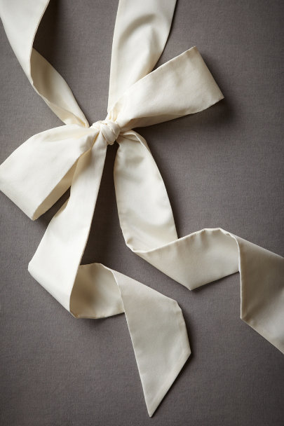 Buttercream Simply Silk Sash | BHLDN