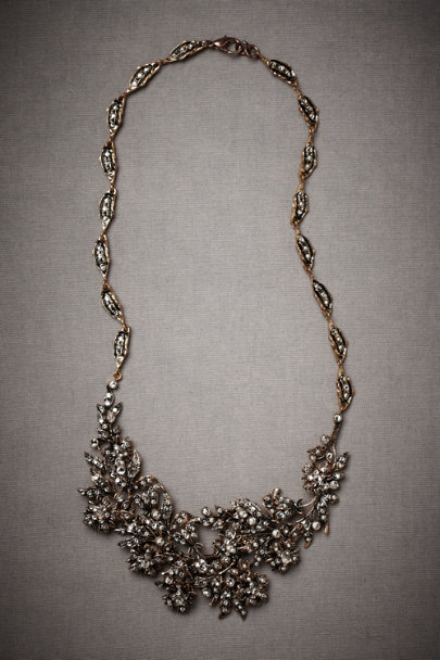 Antique Crystal Flickering Festoon Necklace | BHLDN