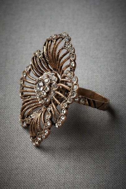 Antique Crystal Hinted Phlox Ring | BHLDN