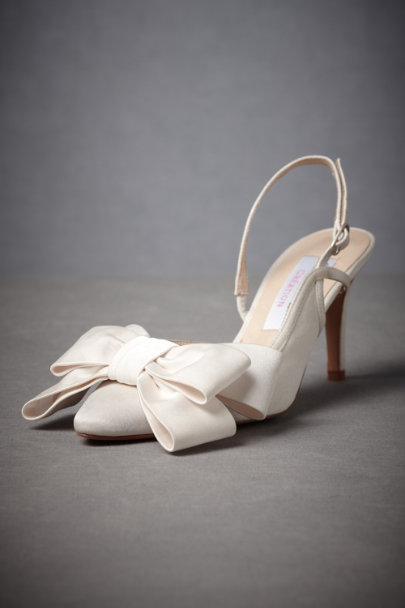 Ivory Superfluity Slingbacks | BHLDN