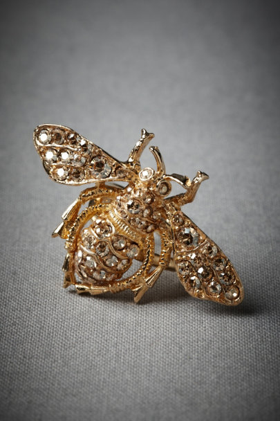 Antique Gold June Bug Ring | BHLDN