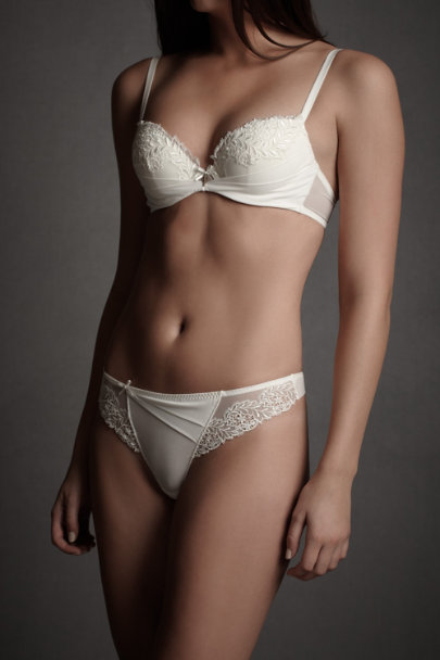 Ivory Ornamental Splendor Bra | BHLDN