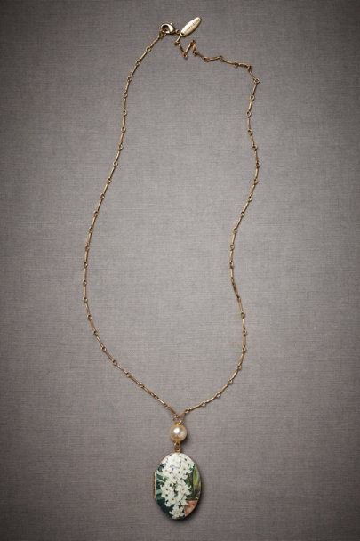 White Keepsake Necklace | BHLDN