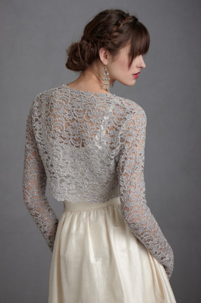 Lady grey shrug in sale bhldn for Sweater over wedding dress