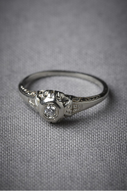August Heritage Ring in  SHOP Attire Jewelry at BHLDN :  bhldn white gold august heritage ring deco