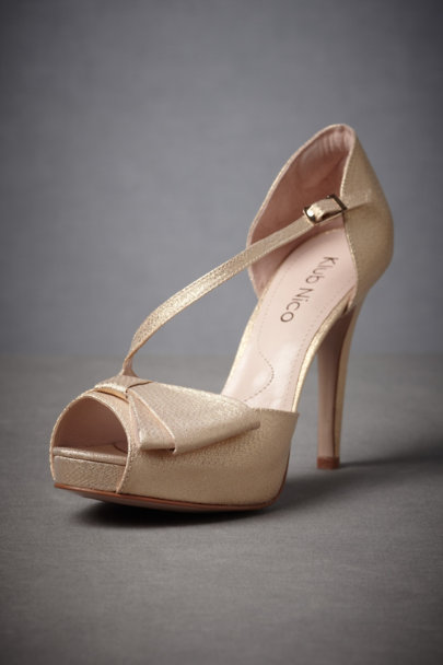 Gold Half-And-Half Heels | BHLDN