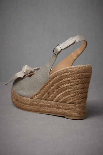 Metallic Gold Sunlit Beach Wedges | BHLDN