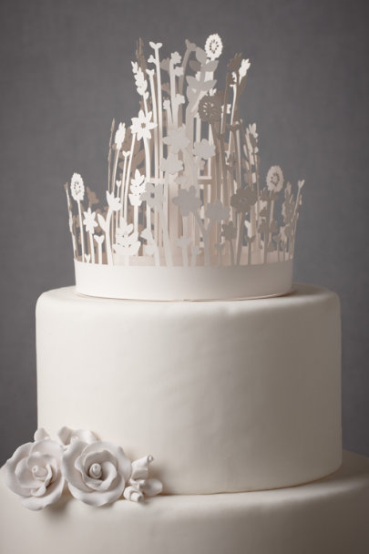 Ivory Concentric Crown Cake Topper | BHLDN