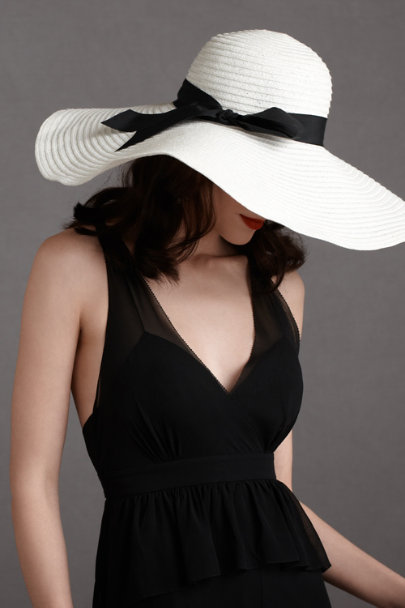 white Southern Belle Hat | BHLDN