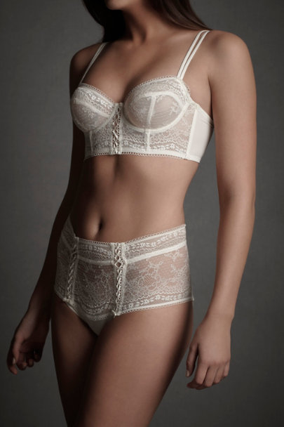 Ivory Filigreed Finery Bra | BHLDN