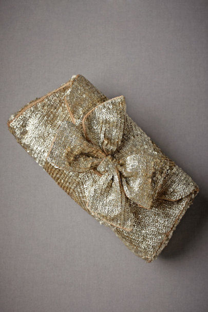Gold Gold Leaf Clutch | BHLDN