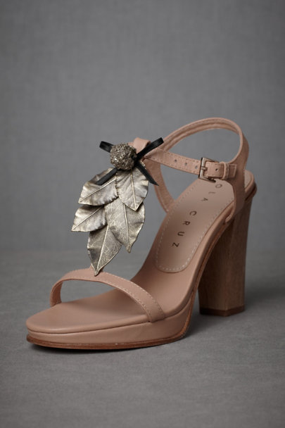 Wood/Metallic Silverfruit Sandals | BHLDN