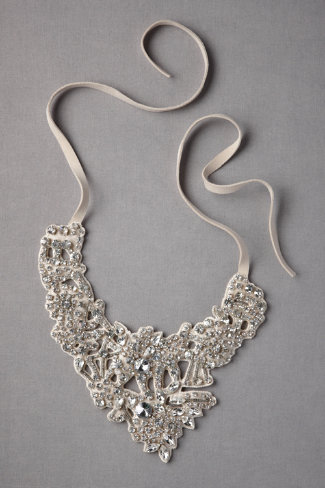 Silvery Lace Necklace