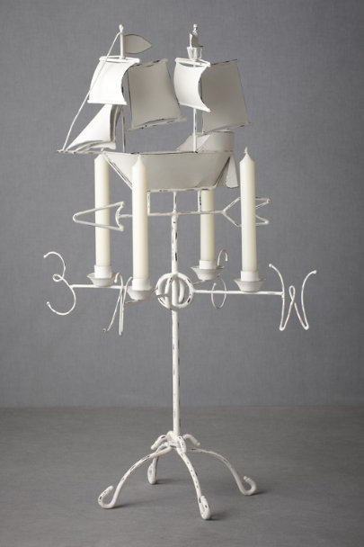 white Sailor's Course Candelabra | BHLDN