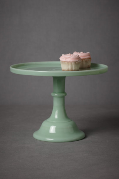 mint green Jadeite Cake Stand | BHLDN