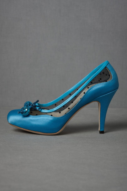 Bettye Muller bright blue Cha-Cha-Cha Heels | BHLDN