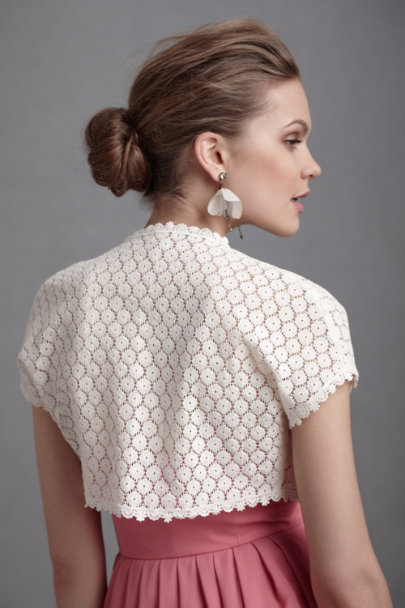 Harrison Morgan Buttercream Yoked Oxeye Bolero | BHLDN