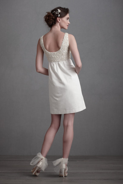 Ivory Pep-And-Pop Dress | BHLDN