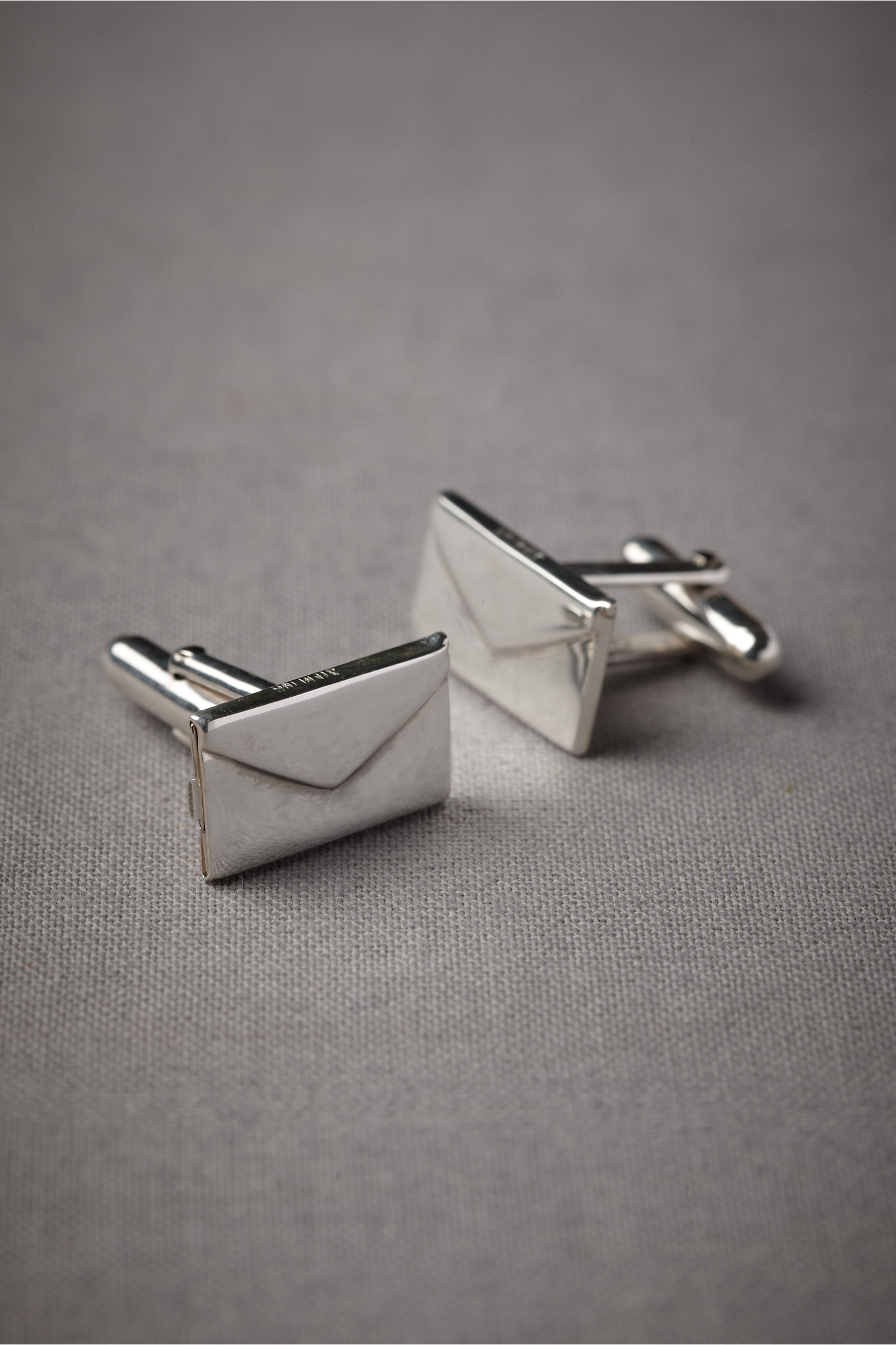 silver love letter cufflinks bhldn