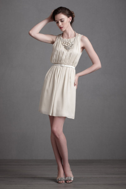 Beige Mycenaean Dress | BHLDN