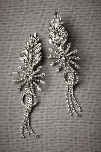 Erickson Beamon Silver Firespark Earrings | BHLDN