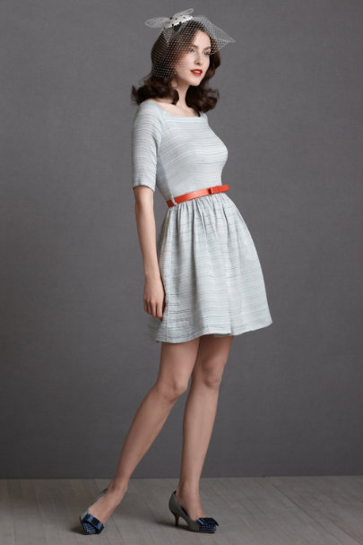 Orla Kiely powder blue Seaside Holiday Dress | BHLDN