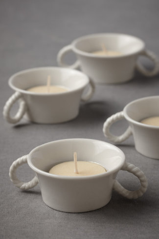 Rope Handle Tealight Holders (4)