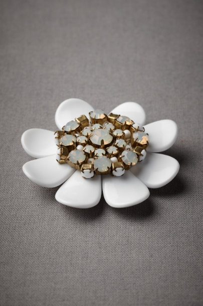 White Frangipani Pin | BHLDN