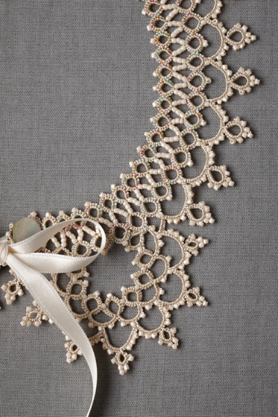 ivory Subtle Infusion Collar | BHLDN