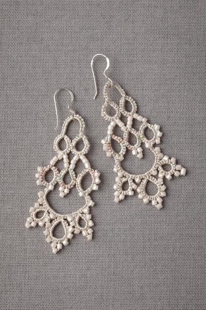 ivory Subtle Infusion Earrings | BHLDN