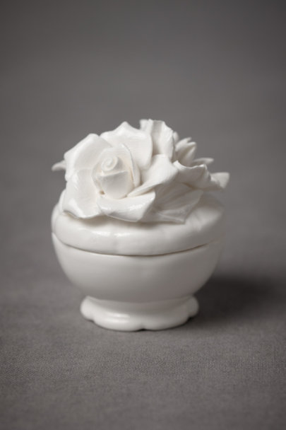 White Petit Four Ring Box | BHLDN